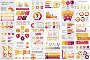 regrouper des éléments infographiques commerciaux vecteur