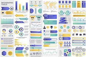 regrouper des éléments infographiques commerciaux