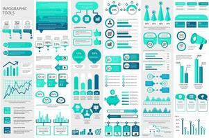 modèle d'éléments infographiques de bundle vecteur