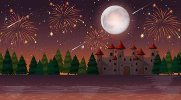 célébration la nuit au château