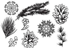 Vecteurs Forêt d'hiver libre