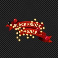 bannière web de lumières de vente vendredi noir
