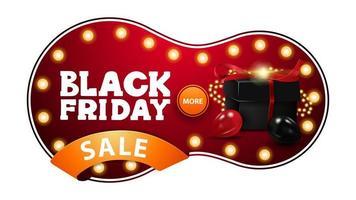 vente vendredi noir, bannière de réduction rouge