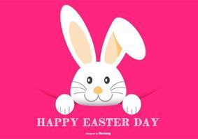 Illustration mignon lapin de Pâques vecteur