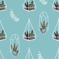 modèle sans couture de plantes succulentes et autres plantes vecteur
