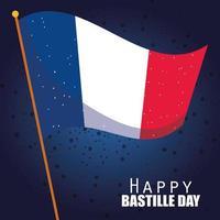 bannière de célébration du jour de la bastille avec des éléments français