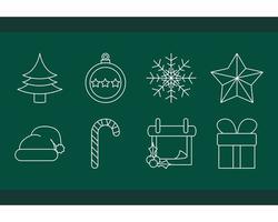 décoration de Noël et jeu d'icônes de célébration