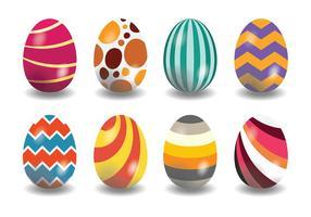 Décoratif icônes aux œufs de Pâques vecteur