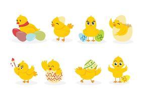 Vecteurs poussin de Pâques