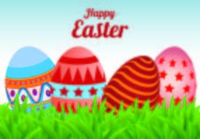 Vecteur arrière-plan aux œufs de Pâques