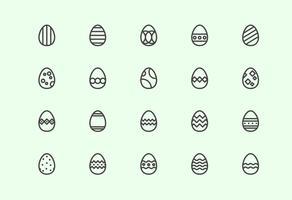 Vecteurs Oeufs de Pâques gratuit vecteur