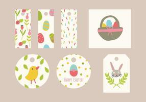 Mots colorés de Pâques vecteur