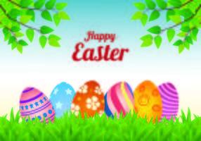 Vecteur arrière-plan de Pâques