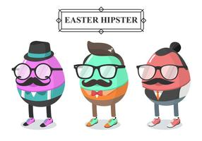 Hipster Easter Egg Vector Character