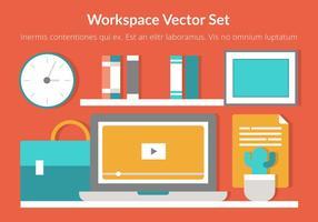 Design plat vecteur de l'espace de travail gratuit