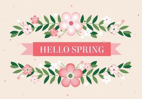 Contexte Bonjour printemps vecteur libre