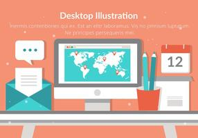 Illustration design plat vecteur libre bureau