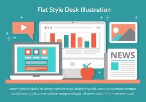 Design plat vecteur libre éléments de bureau