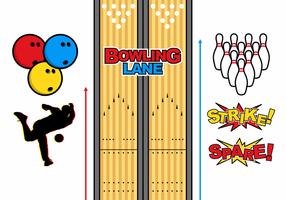 Bowling Lane Vector gratuit