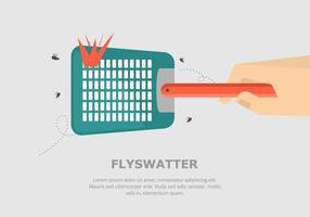 Fly Contexte Tapette vecteur
