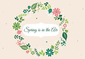 Contexte Fleur de printemps Couronne libre vecteur