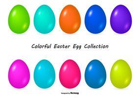Collection colorée aux œufs de Pâques vecteur