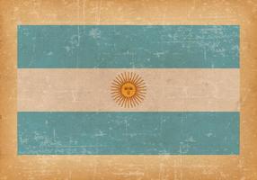 Drapeau de l'Argentine sur fond grunge vecteur