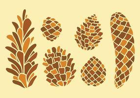 Pine gratuit Cônes vecteur icônes
