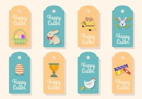 Vecteurs plat Tag cadeau de Pâques vecteur