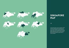 Vecteurs Carte de Singapour gratuit vecteur