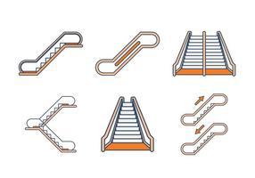 Vecteurs Escalator libres vecteur