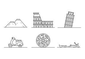 Vecteurs libres iconiques Italie