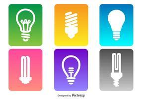Ensemble d'icônes d'ampoule vectorielle vecteur