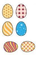 Icônes oeufs de Pâques vecteur