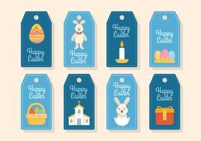 Vecteurs plat Tag cadeau de Pâques