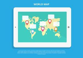 Vecteur libre Planisphère infographique