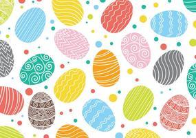 Motif oeuf de Pâques fond vecteur