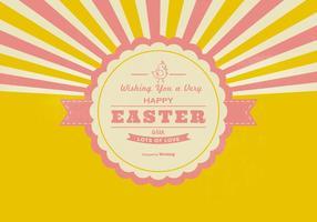 Retro Joyeux Contexte de Pâques vecteur