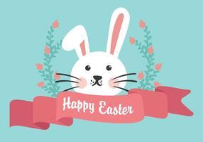 Vecteur de fond plat de lapin de Pâques