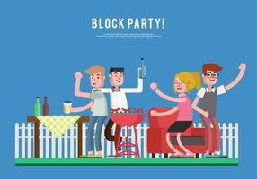Block Party Illustration Vecteur