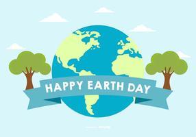 Illustration heureux Jour de la Terre vecteur