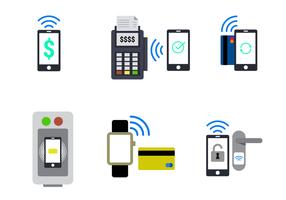 NFC vecteur dans le style plat
