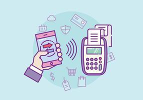 Illustration NFC de paiement vecteur