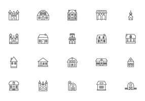 Vecteurs bâtiment historique et coloniale vecteur