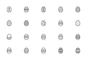 Liner vecteurs Oeufs de Pâques vecteur