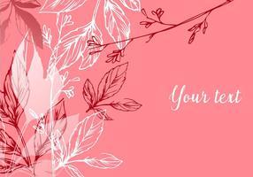 Arrière-plan floral romantique vecteur