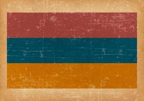 Drapeau grunge de l'Arménie vecteur