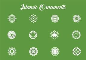 Divers ornements islamiques vecteur