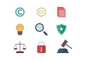 Icônes vecteur libre droit d'auteur
