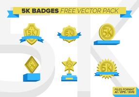 5k Badges Pack gratuit vecteur